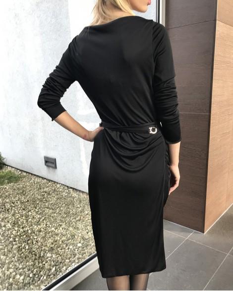 Šaty dámské Gucci černé se sponou 73241a99b3f